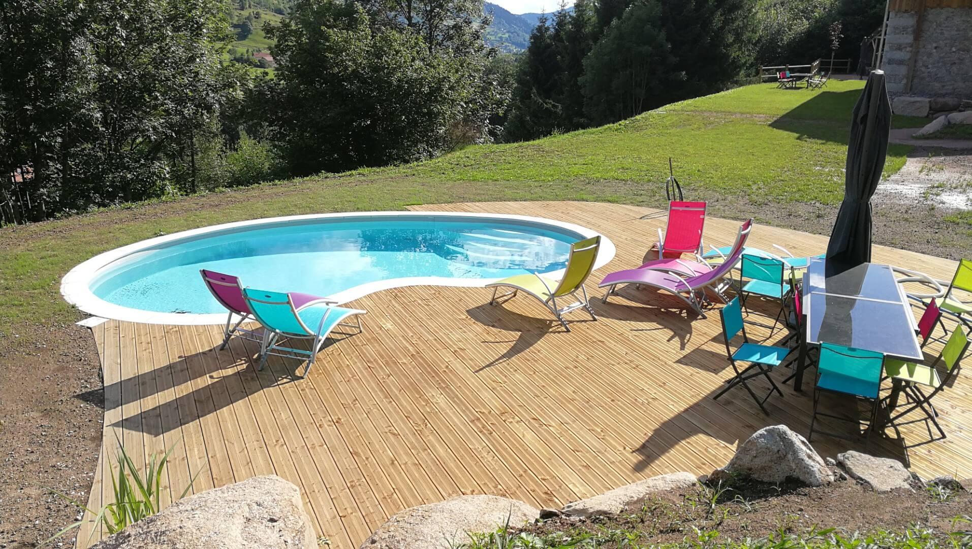 Piscine enterrée dans les Hautes-Vosges